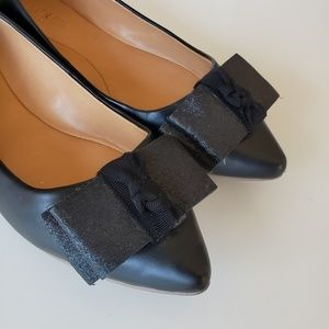 J. Crew Shoes - J. Crew Emery Black Bow Flats